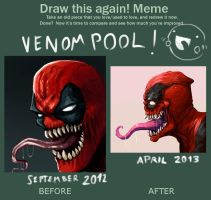 Redraw this again - venompool by FonteArt