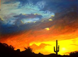 arizona sunset by yungdee1333