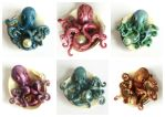Octopusses - clay and resin by bgerr