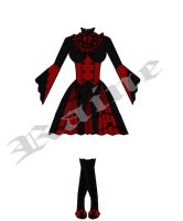 Red Gothic Dress by cheaterboy-A