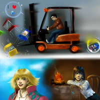 Forklifts and Castles by AuldBlue