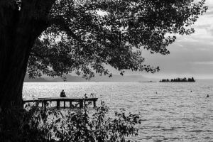 B/W Lake view by CVP235
