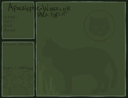 Dark Forest Application Sheet- AW by sheeplesnight