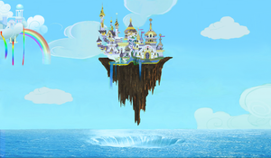 Floating City of Canterlot by MysteryMelt