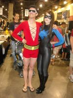 Plastic Man and Nightwing by icantthinkofaname-09