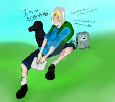 Adventure Time With Eliot and Helena's Dog. by Rie--Rie