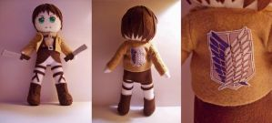 Eren Jaeger Plushie by StrawberryParall