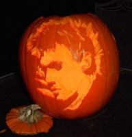 Jonathan Rhys Meyers hand carved pumpkin 2015 by Queensrain