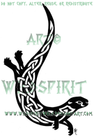 Knotwork Otter Tattoo by WildSpiritWolf