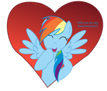 Rainbow Dash Valentine Card - Awesometines by DiegoTan