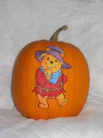 Scarecrow Pooh by pumpkinmaster