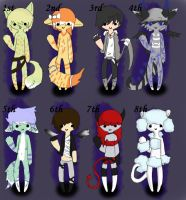 Adoptables ^^ by Shire7