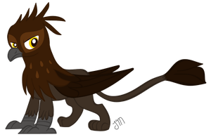 Cedric the Griffon by JennMichelle