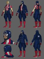 Captain America Redesign WIP by DanielHeard
