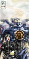 Gypsy Danger And Mako Mori by seanrandolph