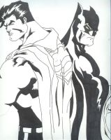 Batman and Superman by onetouchtakeover