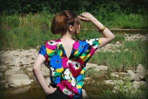 Flower-Me-Happy Blouse-back by MorbidKittyCorpse