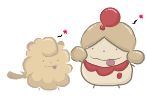 Shiny Swirlix and Slurpuff by Chop-StiXz