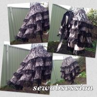 Add fantasy to your outfit with burlesque bustle by SewObession