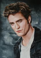 Edward Cullen _ Robert Pattinson by agusgusart