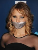 Jennifer-Lawrence gagged by PhM 002 by PhMBond