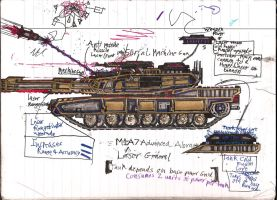 General Towne's M1-A7 Advanced Abrams Tank by Lord-DracoDraconis