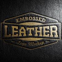 FREE Leather Stamping Logo MockUp by graphicloots