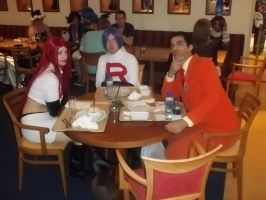 Giovanni having a meal with jessie and james by TR-Kurt