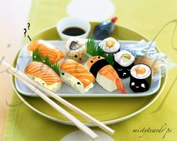 sushi dude and friendS :D by mistyteardrops