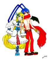Flonne and Laharl (After 5000 Years) by danceljoy
