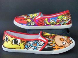 The Simpsons Treehouse of Horrors Shoes Flats by rachelliles352