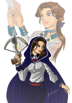 Then and Now: Elizabeth by ADL-art