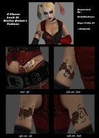Harley Quinn's Tattoos by dnxpunk