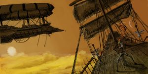 Airship Pirates by AnthonyPismarov