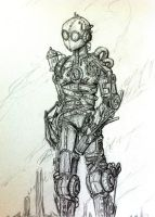 Steampunk Robot - Scetch by Clanaad