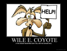 Wile E. Coyote motivational by jswv