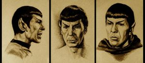 Three Drawings of Mr. Spock by Vulcan-Fans