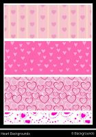 Heart Pattern Backgrounds by Synthexstock