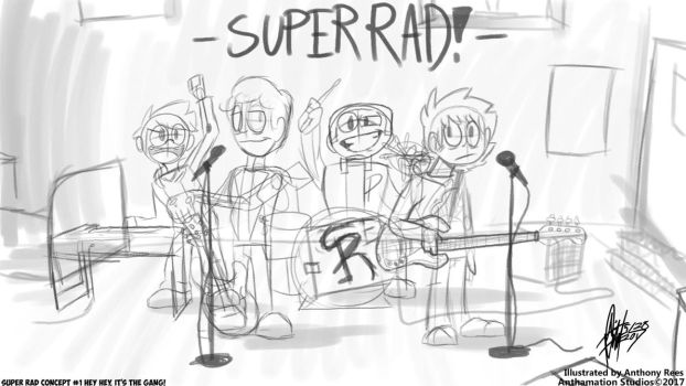 Super Rad! Concept #1: Hey hey, it's the gang! by Anthamation