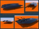 Supersonic Offshore Groundeffect Racer by Scifiwarships