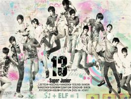 Super Junior colorful old ver by tearystar08