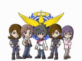 Chibi Gundam 00 by AsherothTheDestroyer