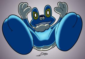 Froakie Incoming! by Evil-Sprite