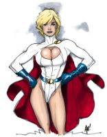 Power Girl-adam hughes colored by Andrew-ak-47
