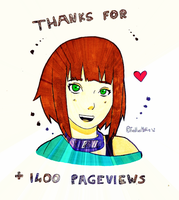 Thanks for +1400 Pageviews! by TrollixMakie