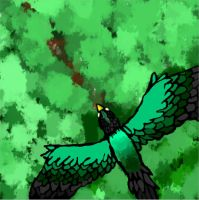 Green Bird by T.G by xXxDemonNoWingsxXx