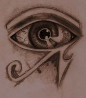 Egyptian Eye Tattoo by spongy-tweety
