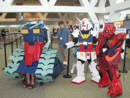 Otakon 2010 Gundam Gang by theIIofswords
