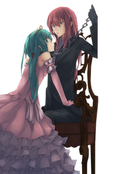 Luka y Miku-Render By Makita by Fandubloids