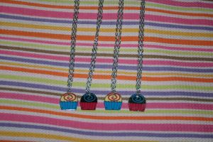 Little Cupcake Necklaces by GrayMegumi